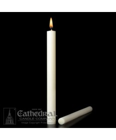 "1 1/8"" x 15"" Altar 51% Beeswax Candles Plain End (Special 2)"