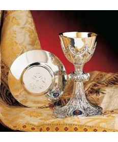 All Sterling Silver Chalice and Dish Paten 10oz