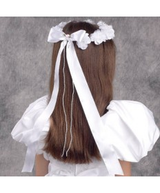First Communion Wreath Veil - 'Elegant Dream'