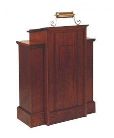 Pulpit with Shelf by Woerner Industries