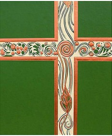 Ceremonial Binder - Green with Copper Foil