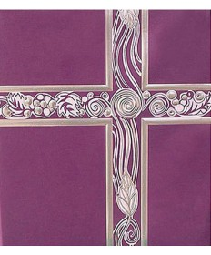 Ceremonial Binder - Purple with Silver Foil
