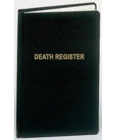 Funeral / Death Register for 500 Entries
