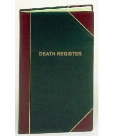 Funeral / Death Register for 1,400 Entries
