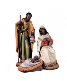 "24"" Nativity Set ""ADUA"" with African Features from Italy"