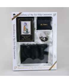 First Holy Communion Missal Set for Boys with Black Wallet