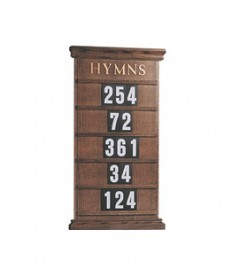 "Hanging Hymn Board by Woerner Industries 19""W x 34""H"
