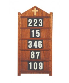 "Hanging Hymn Board by Woerner Industries 16""W x 32""H"
