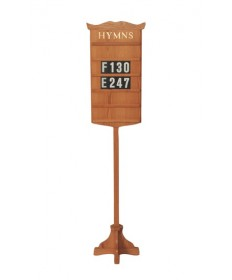 "Hymn Board with Stand by Woerner Industries 16""W x 77""H"