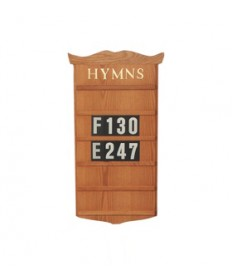 "Hanging Hymn Board by Woerner Industries 16""W x 34""H"