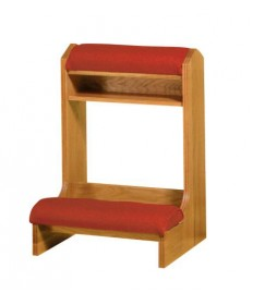 """Prie Dieu with Shelf and Padded Armrest 25""""W"""