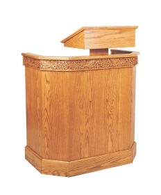 Pulpit with Shelf and Bookrest by Woerner Industries