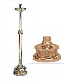 "Excelsis Processional Candlestick 44""H, 10"" Round Base"