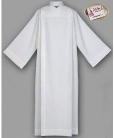 Abbey Front Wrap Weave Alb 100% Polyester with Button Closure