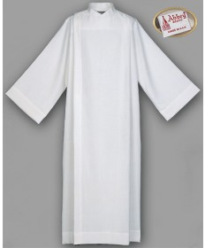 Abbey Front Wrap Alb Cotton/Polyester with Button Closure
