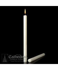 "1-1/4"" x 17"" Altar 51% Beeswax Plain End Candles"