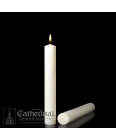 "1-1/2"" x 9"" Altar 51% Beeswax All Purpose End Candles"