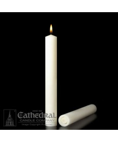 "1-1/2"" x 12"" Altar 51% Beeswax All Purpose End Candles"