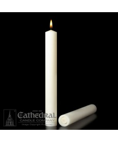 "1-1/2"" x 17"" Altar 51% Beeswax All Purpose End Candles"