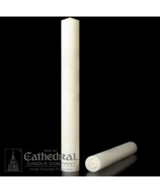 "1-1/2"" x 26"" Altar 51% Beeswax All Purpose End Candles"