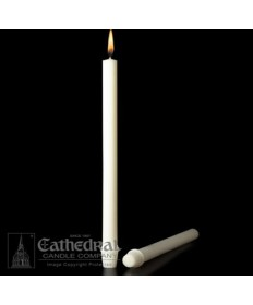 "1"" x 19"" Altar 51% Beeswax Candles Self-Fitting End (Short 2)"