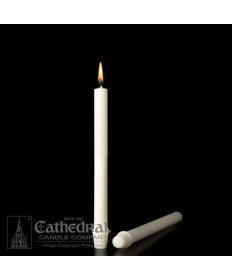 """25/32"""" x 10 1/4""""  51% Beeswax Candles Self-Fitting End (Medium 6)"""