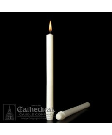 "1"" x 12 1/2"" Altar 51% Beeswax Candles Self-Fitting End (F 3)"