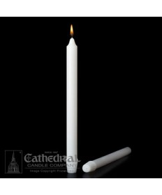 "Small Dia 1-1/16"" x 17-1/2"" Non-Beeswax Altar Candles Self-Fitting End (Short 2)"