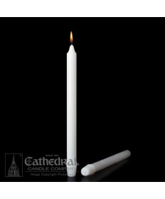"""Small Dia 7/8"""" x 11-3/4"""" Non-Beeswax Altar Candles Self-Fitting End (Short 4)"""