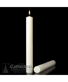 "1-3/4"" x 17"" Altar 51% Beeswax All Purpose End Candles"