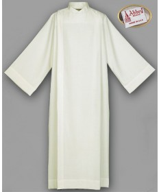 Abbey Front Wrap Ivory Alb 100% Polyester with Velcro Closure