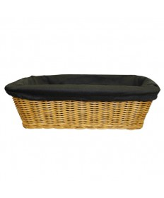 "Rectangular 4"" deep Collection Basket with Liner"