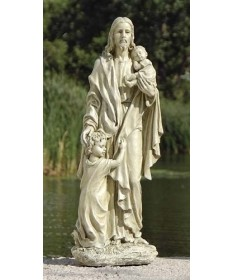"Jesus with Children 24"" Garden Statue from Renaissance Collection"
