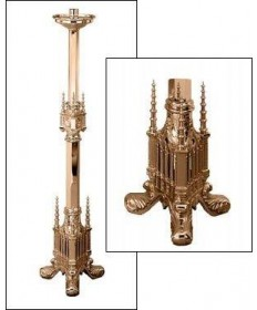 "Excelsis Processional Candlestick 44""H, 12"" Base"