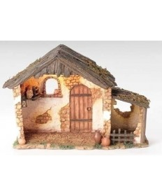 "Fontanini Resin Lighted Stable for 5"" Figures"