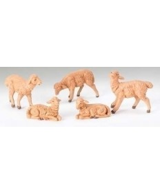 "5 pc Set Fontanini 5"" Brown Sheep"