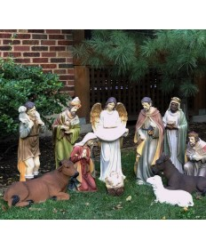 Fiberglass Resin 12 Piece Nativity Set 27""