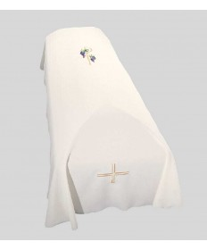 Funeral Pall with Chi-Rho and Grape Vine Embroidery