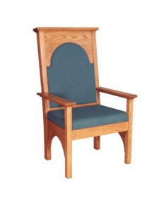"Celebrant Chair with Upholstered Seat and Back 50""H"
