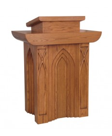 Pulpit with Two Shelves and Bookrest by Woerner Industries