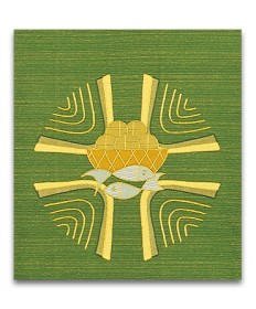 Altar Cover in Green Pascal fabric by Slabbinck Art Studio