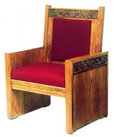 "Celebrant Chair with Upholstered Seat and Back 47""H"