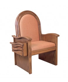 "Celebrant Chair with Upholstered Seat and Back 46""H"