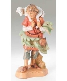"Fontanini 5"" Shepherd Gabriel with Sheep"