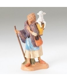 """Fontanini 5"""" Miriam with Sheep in the Basket"""