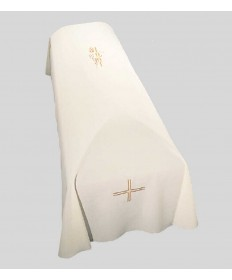 Funeral Pall with Alpha-Omega Embroidery