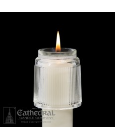 Heat Resistant Rex Glass Follower for Altar Candles