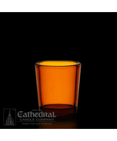 15 Hour size Amber Votive glasses
