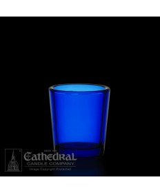 15 Hour size Blue Votive glasses