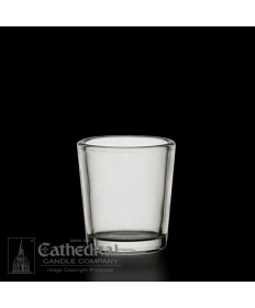 15 Hour size Crystal Votive Glasses